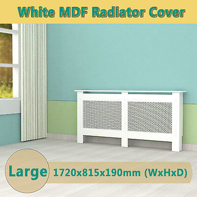 White Painted Radiator Cover Cabinet Wood MDF Traditional Modern Large