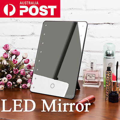 Portable Makeup Mirror LED Lighted Touch Screen Vanity Beauty Cosmetic Mirror