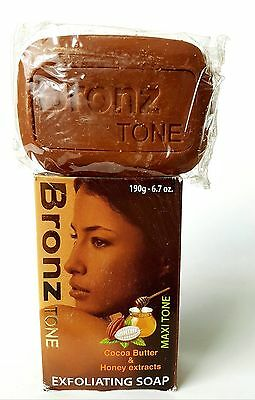 Bronze Tone Cocoa Butter & Honey Extracts  Exfoliating  SOAP 190g