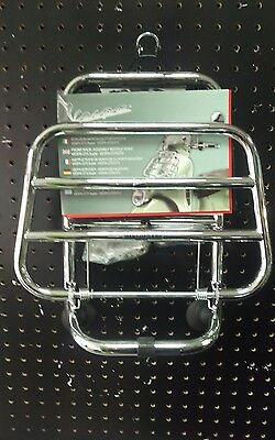 Genuine Piaggio Vespa Gts Gtv Scooter Front Chrome Luggage Rack Carrier 1B001482