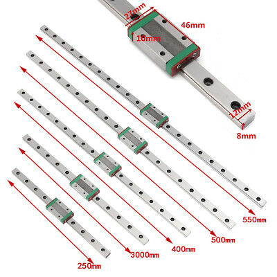 MGN12H Linear Sliding Guide Block 250 300 400 500 550mm CNC 3D Printer