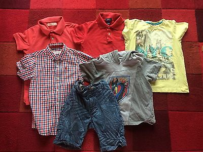 Lovely Summer Bundle of Boys Clothes Age 7-8 Years - Shorts T Shirts 6 Items