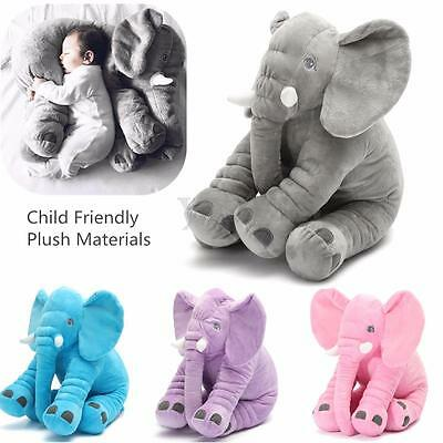 Soft Long Nose Elephant Pillow Plush Doll Stuff Toy Lumbar Baby Kid Present Gift