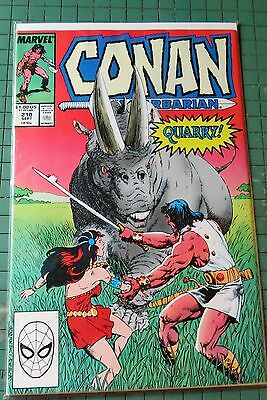 Conan The Barbarian #210  Marvel Comics Copper Age Lot C482