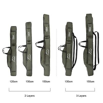 New Portable Folding Fishing Rod Carrier Canvas Pole Tools Storage Bag Case