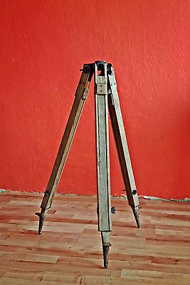 Antique tripod Wooden tripod Theodolite tripod Surveying tool Wooden stand