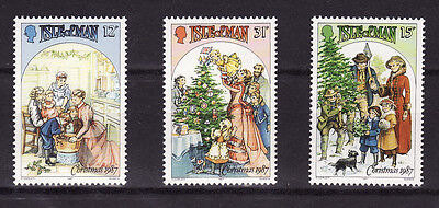 1987 Isle of Man, Christmas, NH Mint Set, SG 358-60