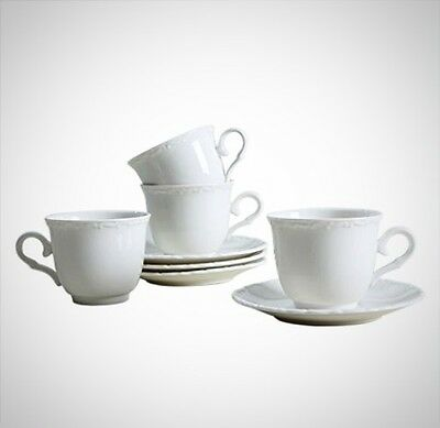 7.5-OZ/Set 4 Ceramic Espresso Coffee Cup and Saucer Set,Porcelain Tea Cup Set