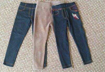Three different girls pants size 3-4 years