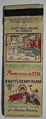Antique  Matchbook Cover Knott's Berry Farm Buena Park California