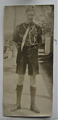 1930's Canadian Boy Scout Scouting Photo  Moncton New Brunswick Summer Dress