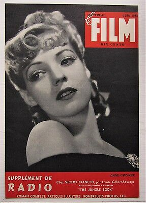 1942 French Montreal Canadian Magazine Cover Le Film  Anne Gwynne