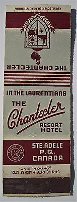 Antique  Matchbook Cover The Chantecler Hotel Resort Ste Adele Quebec