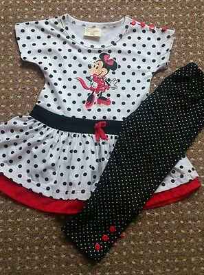 2pcs Outfit Kids Baby Girls Set T Shirt Top +  Pants Leggings size 3 years