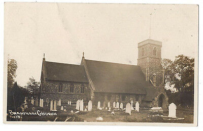 BRANTHAM St Michael's Church, Suffolk, RP Postcard Postally Used 1915