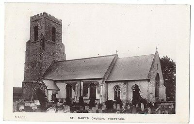 THETFORD St Mary's Church, RP Postcard Postally Used 1911, Kingsway Series