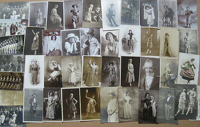 THEATRE People in Theatrical Costume Job Lot of 44 RP Postcards c1910-1930s