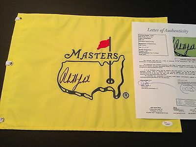 Phil Mickelson Signed Undated Masters Flag , JSA/LOA !