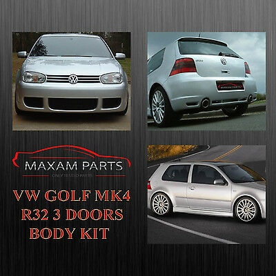 "Vw Golf Mk4 4 Iv Body Kit Bodykit 3 Doors "" R32 "" = New = Abs Plastic"