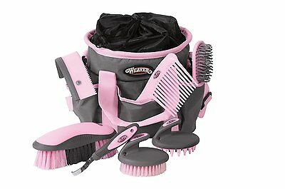 7 Horses Grooming Beginners Pet Supplies Hoof Care Brush Equestrian Kit Bag New