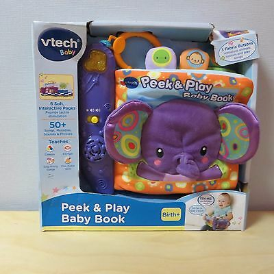 Vtech Baby Peek and Play Baby Book - 6 Interactive Pages - From Birth +