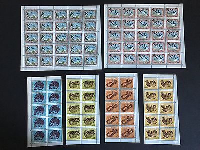 Yugoslavia mnh stamps in multiples and complete sheets - airplane