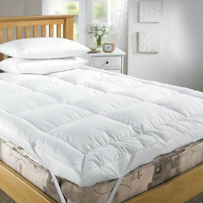Goose Feather & Down Duck Feather Mattress Topper Cover White All Size Available