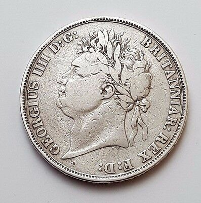 1821 - King George Iiii - Silver - One Crown / Five Shillings - English Coin