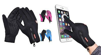 Unisex Winter Gloves Waterproof and Windstopper for Ski Snowboard Touch Screen
