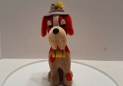 Rare Vintage Dream Pets Saint Bernard with Brandy Barrel