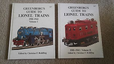 Greenberg's Guide To Lionel Trains 1901-1942 Vol 1 First Edition 1988 & Vol II