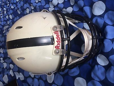 Riddell American Football Helmet White, Adult Medium Size w/ face cage
