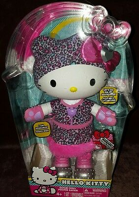 "Hello Kitty Safari Doll 12"" Poseable - Brand New In Box - Rare"