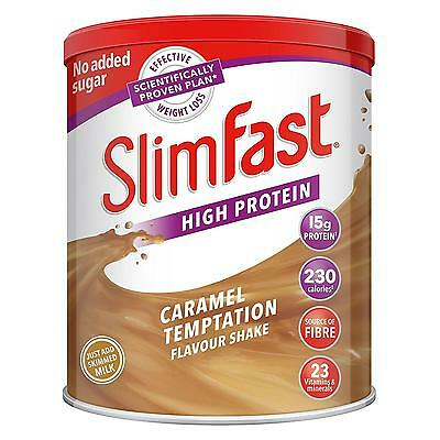SlimFast Meal Replacement Powder Shake, Caramel Temptation, 438 g