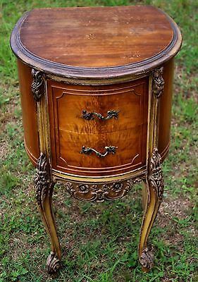 Louis XIV Provincial Two Drawer Side Table, Early 20th Century