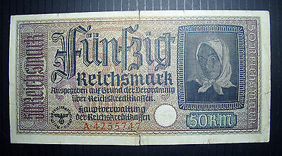 Nazi Germany 50 Reichsmark Banknotes WWII 1940-45 A425