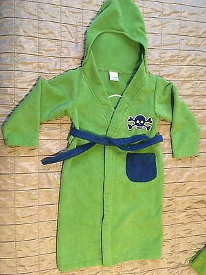 NWOT Kids Boys Pirate Robe Cotton Jumping Beans with BONUS Hooded Towel