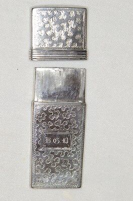 c. 1834 English Silver Lancet Case Birmingham Hallmark by T&P