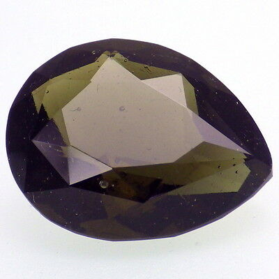 BOHEMIAN MOLDAVITE-LOCENICE 10.87Ct FOREST GREEN-LARGE-HAND FACETED-RARE!