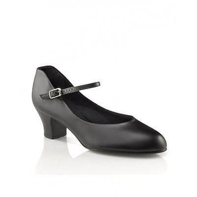 NIB Capezio 551 Jr Footlight Character Shoe Leather Black