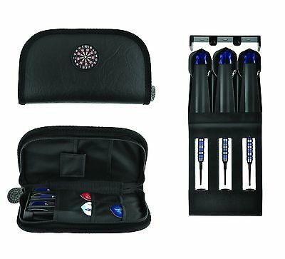 DARTS CASE Quality Dart Faux Leather Carry Case Dart Wallet - with Drop in box