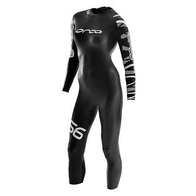 Orca S6 Wetsuit, Open Water Swimming Triathlon, Used repaired Size Small Black
