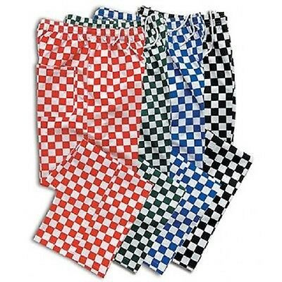 Chef Trousers Check Chefs Pants Uniform Unisex Catering Waiter Workwear Blue Red