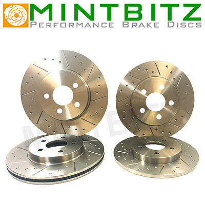 BMW E46 COMPACT 320td Dimpled & Grooved BRAKE DISCS FRONT REAR