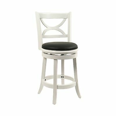 Boraam 43724 Florence Counter Height Swivel Stool 24 Inch Distressed
