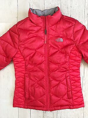 The North Face Girl Goose Down 550 Jacket sz L 14-16 Pink Coral