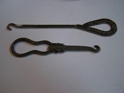 VICTORIAN - ANTIQUE FRENCH DEPOSE BUTTON HOOK-MANDOLINE SHOE - BOOT & other