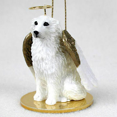 Great Pyrenees Ornament Angel Figurine Hand Painted