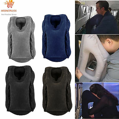 Inflatable Air Filled Airplane Cushion Neck Comfortable Support Pillow Travel NT