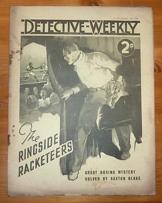 DETECTIVE WEEKLY No 90 10TH NOV 1934 THE RINGSIDE RACKETEERS BY STAWFORD WEBBER